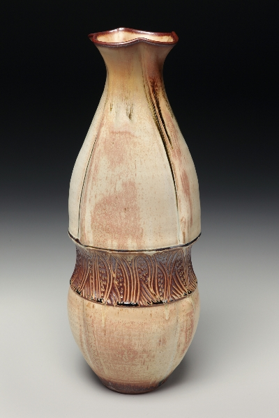 Large, Belted Vase, Sarah Wells Rolland
