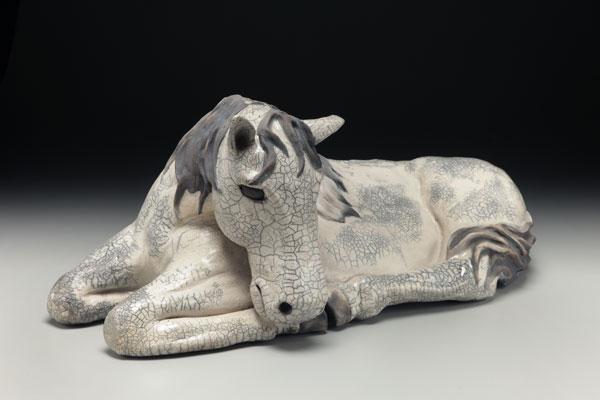 Raku Sculpture, Judi Harwood