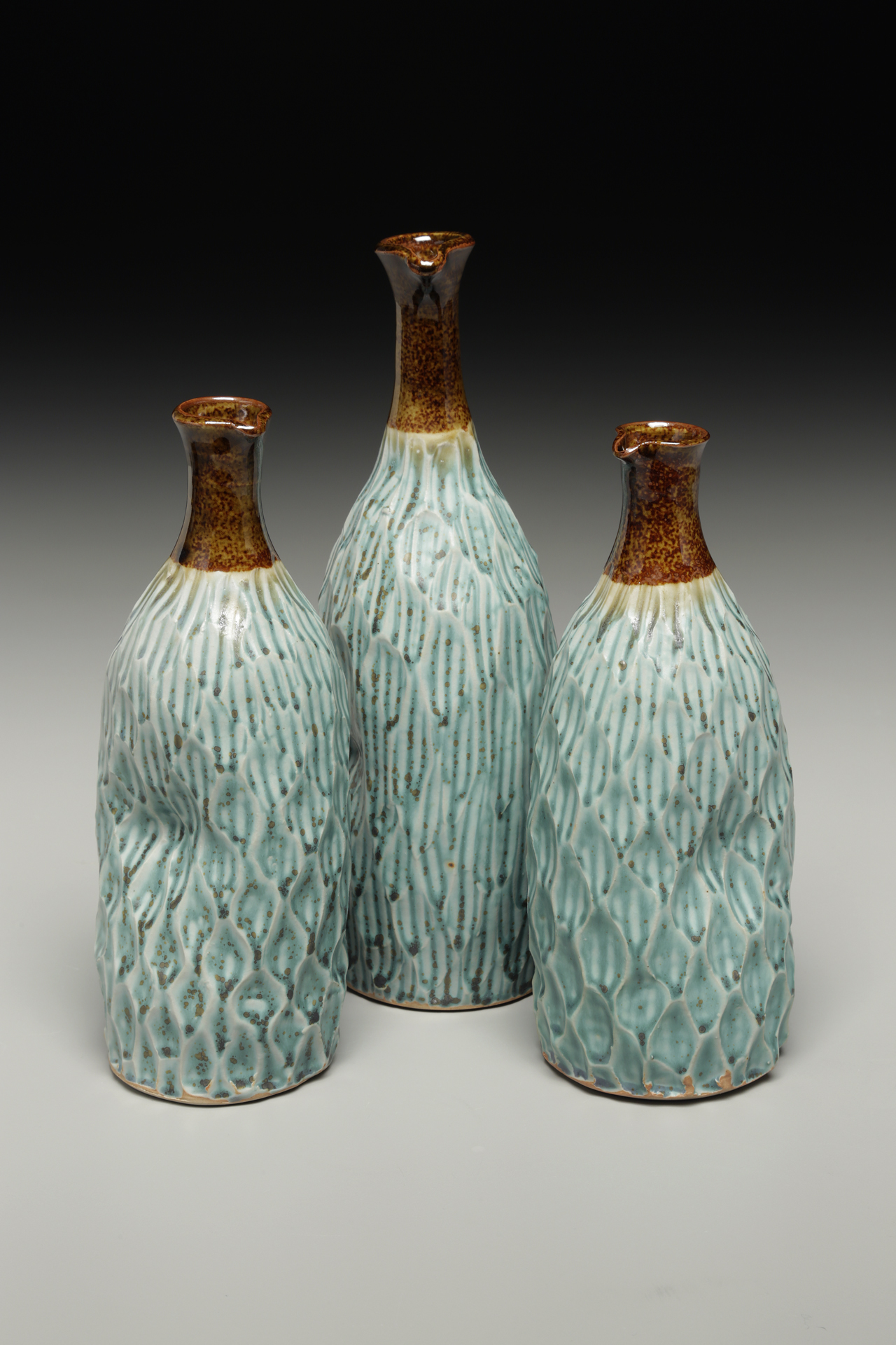 Faceted Oil Bottles, Lori Theriault