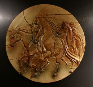Bas Relief Tile by Nan Jacobsohn