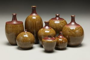 the village potters, fine ceramics, pottery, asheville, nc, karen dubois
