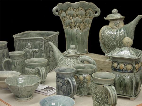 Pots by Barbara Knutson