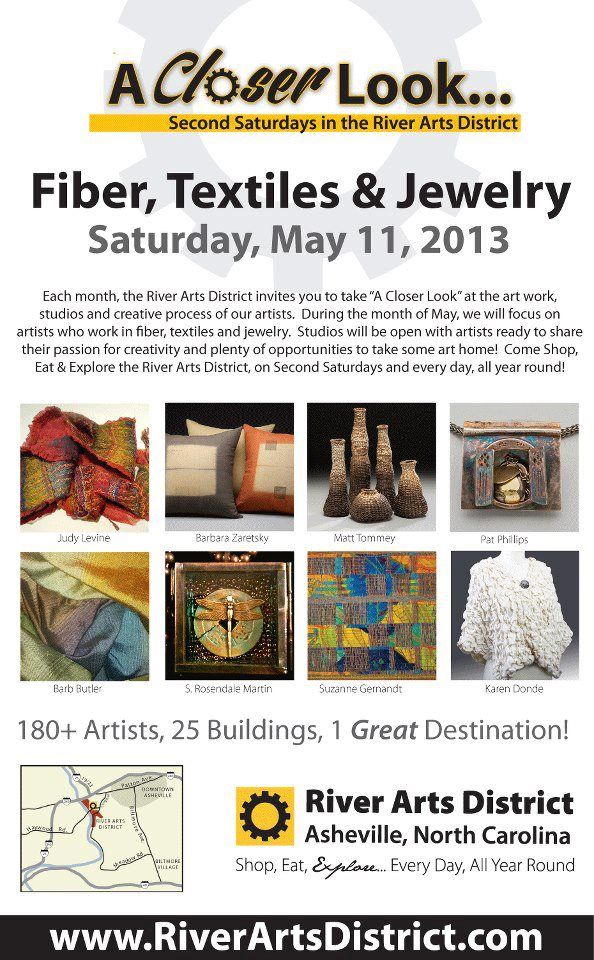 The Village Potters, A Closer Look, River Arts District, Second Saturday, Riverview Station, Textiles, Fiber, Jewelry, Pottery