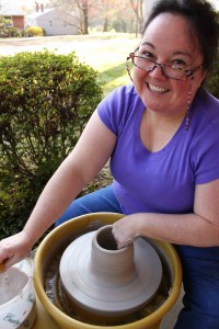 The Village Potters, Karen Dubois, pottery apprentice