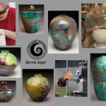 the village potters, asheville, nc, pottery, sculpture, raku, bernie segal