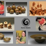 the village potters, asheville, nc, pottery, hand building, karen dubois