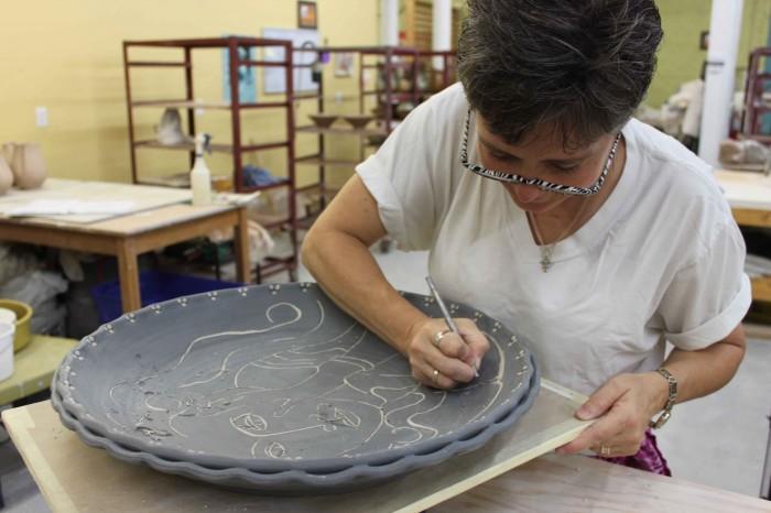 the village potters, asheville, nc, pottery, ceramics, gallery, melanie robertson