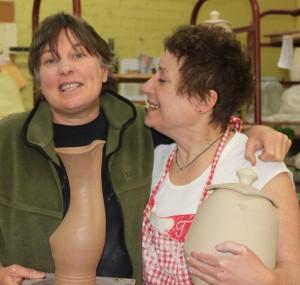 The Village Potters, Sarah Wells Rolland, Cat Jarosz, Masters Series, Pottery, Workhsop