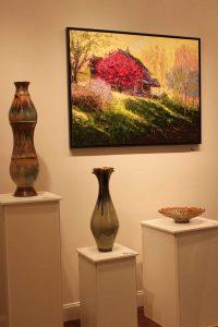 the village potters, asheville, nc, pottery, ceramics, large ceramics, spotlight gallery, sarah wells rolland, jenny buckner