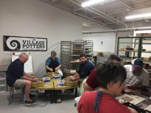 the village potters, asheville nc, river arts district, create your own workshop, workshop, pottery, get your hands dirty