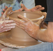 the village potters, asheville, nc, tours, tour group, pottery, hands on, get your hands dirty