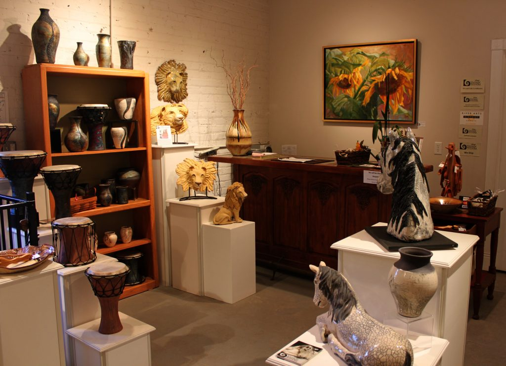 the village potters, asheville, nc, pottery, ceramics, raku, sculpture, gallery