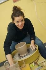 the village potters, asheville, nc, pottery, ceramics, riverview station, river arts district, dearing davis