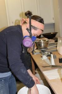 VP Dearing Davis mixing a glaze!