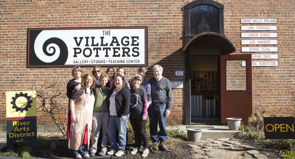 the village potters, asheville, nc, pottery, ceramics, river arts district, riverview station, laguna clay