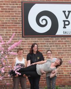 the village potters, asheville, nc, pottery, ceramics, apprentices, exhibit, radical daze, studio stroll
