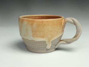 the village potters, asheville, nc, pottery, ceramics, river arts district, dearing davis, get a grip, making handles