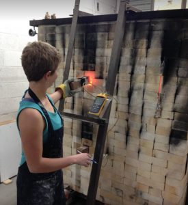 Hannah Checking Bertha Kiln