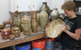 the village potters, asheville, nc, pottery, gallery, apprentices, hannah mcgehee