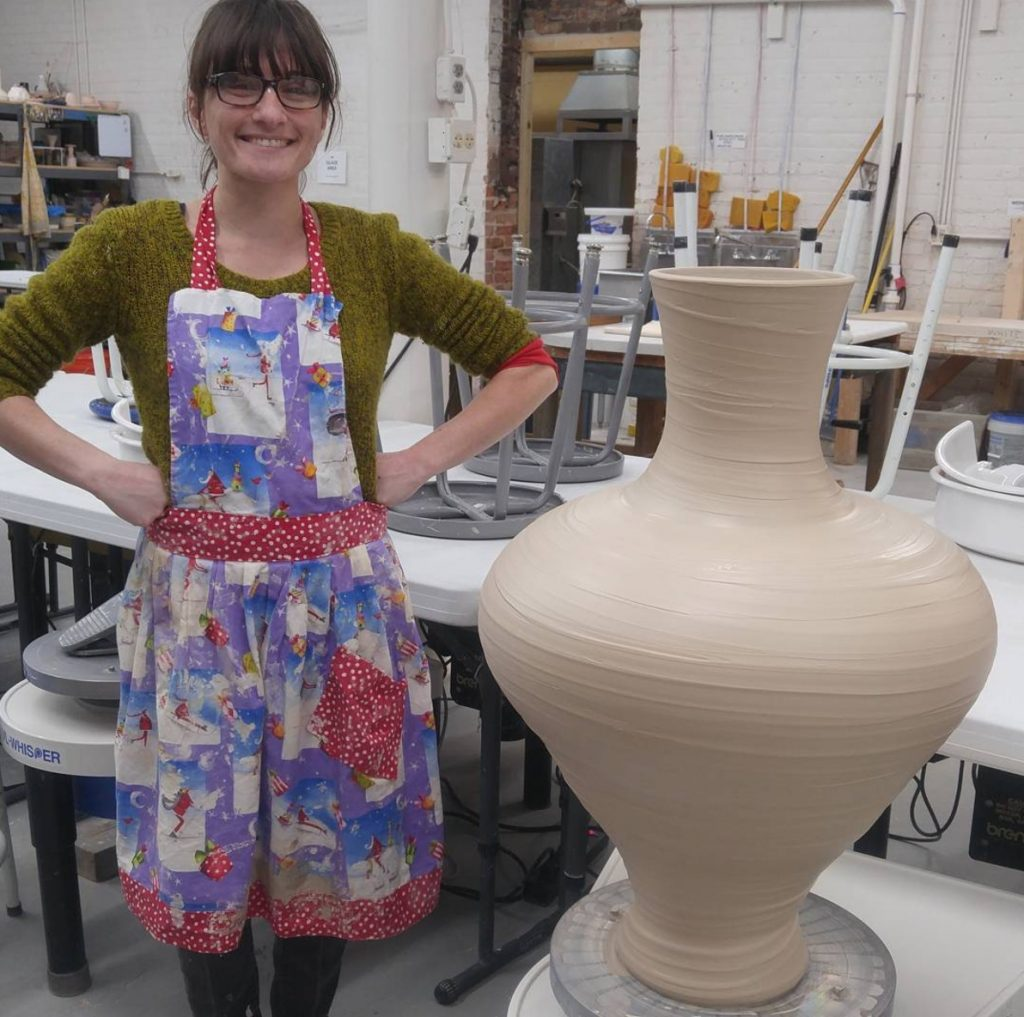 Tori Motyl with Big Pot