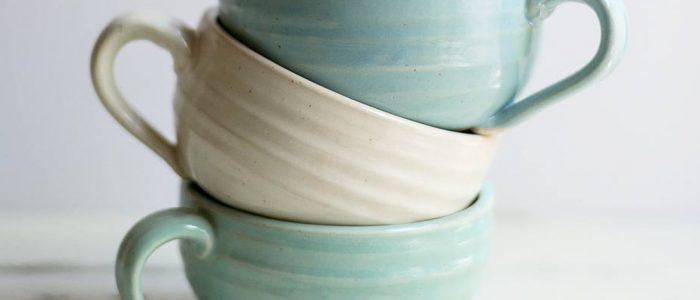 the village potters, asheville, nc, pottery, studio, apprentice, tori motyl, mugs
