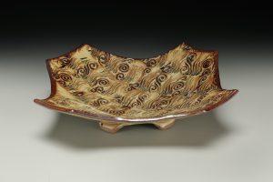 Textured tray pumpkin glaze