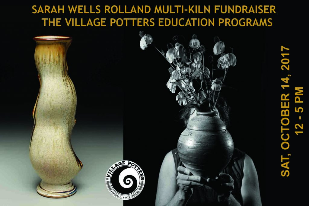 the village potters, asheville, nc, pottery, ceramics, fundraiser, sarah wells rolland, kiln opening, scholarship fund, new pots, advanced ceramics
