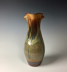 "Earthtone altered Vase Dimensions 13.5"" x 7"""
