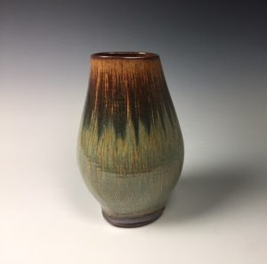 "Earthtone Vessel  Dimensions 10.5"" x 7"""