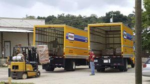 Loading the Big Trucks
