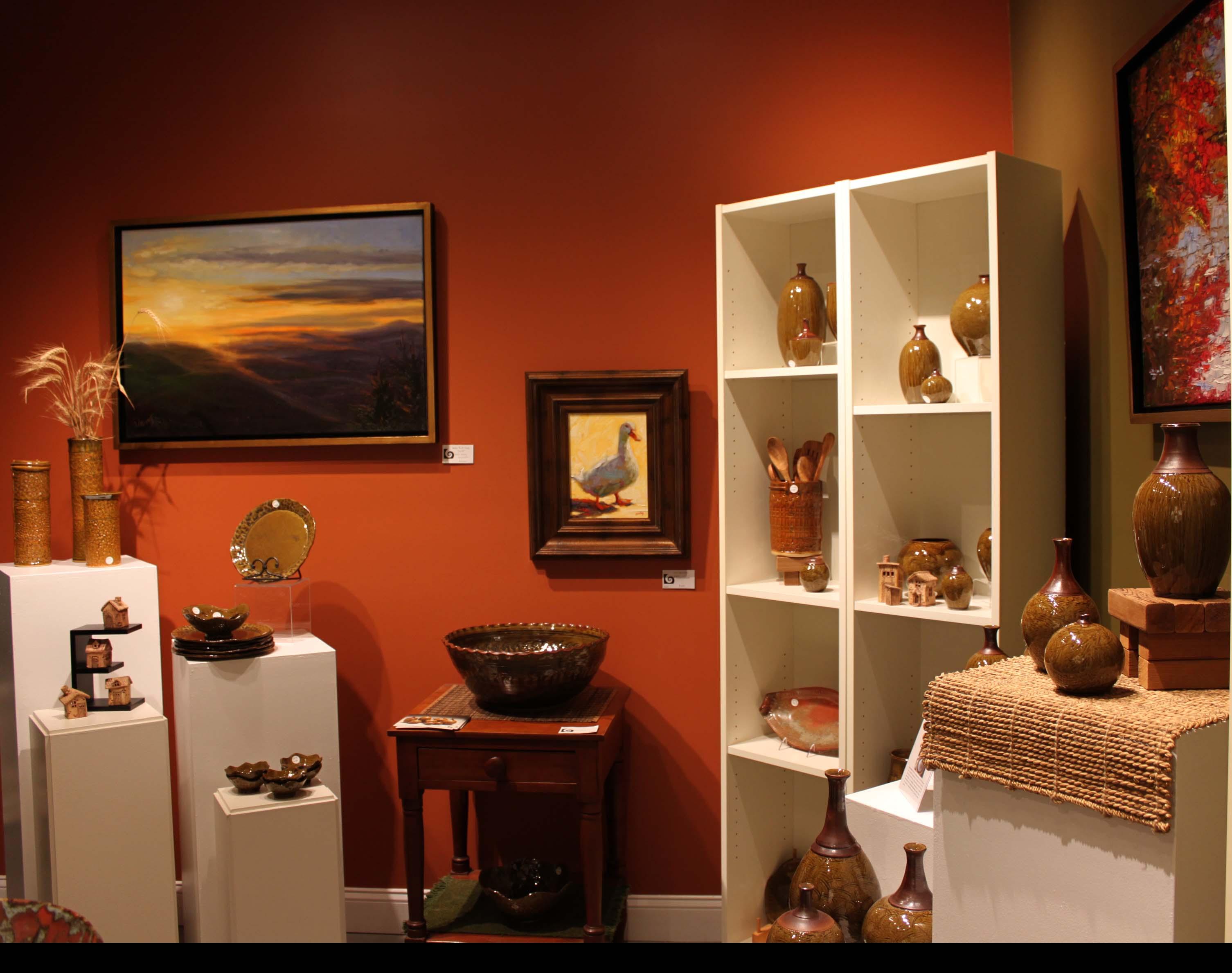 the village potters, asheville, nc, pottery, ceramics, feature gallery, karen dubois, lori theriault