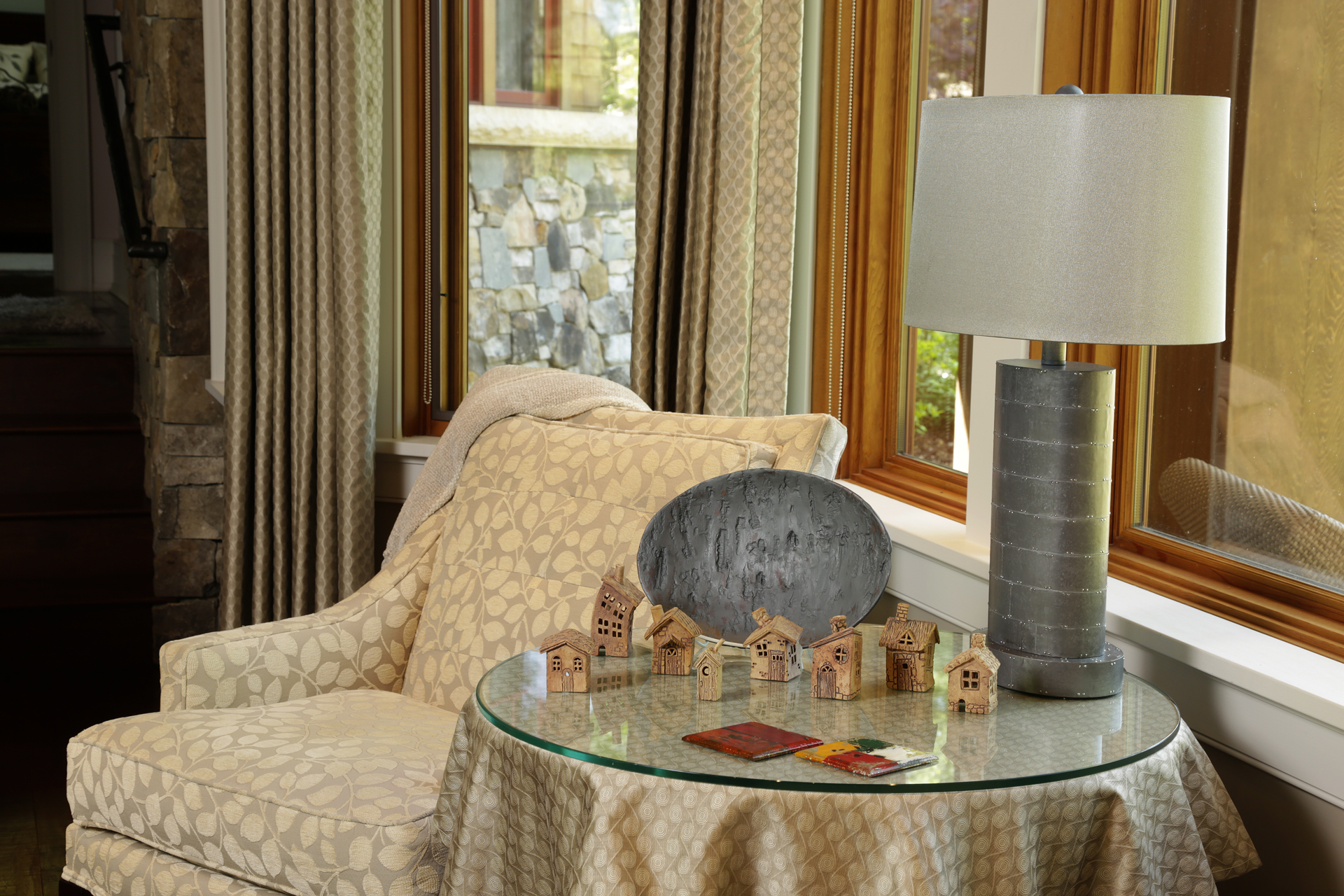 Platter by Dearing Davis, Tiny Village by Karen Dubois