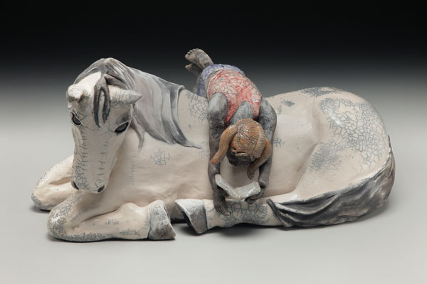 Raku Sculpture, Judi Harwood