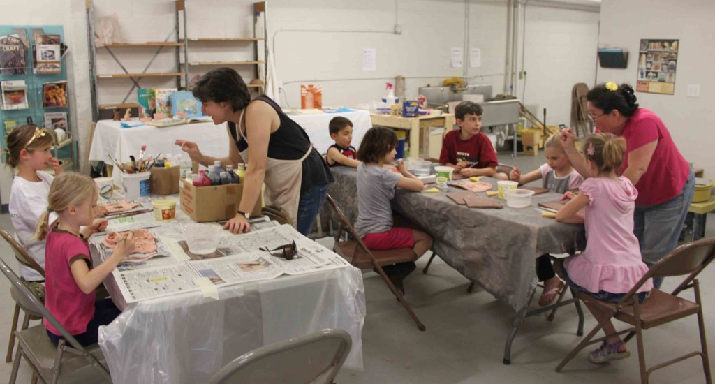 The Village Potters, Teaching Center, Kids Pottery Classes, A Full Set