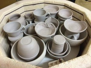firing, kiln, pottery, bertha, the village potters, asheville, nc