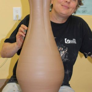 Sarah and big pot