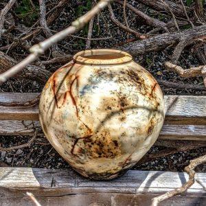 Judi Harwood, The Village Potters Clay Center, Saggar Fired, Raku