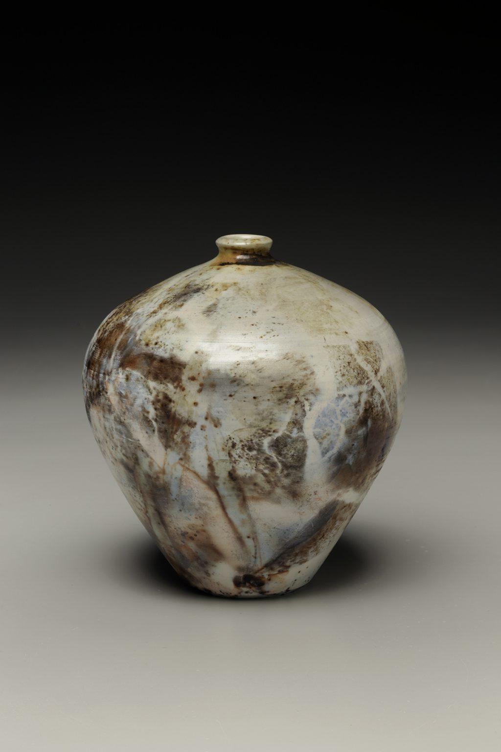 Judi Harwood, The Village Potters Clay Center, Asheville, NC, Saggar, Raku