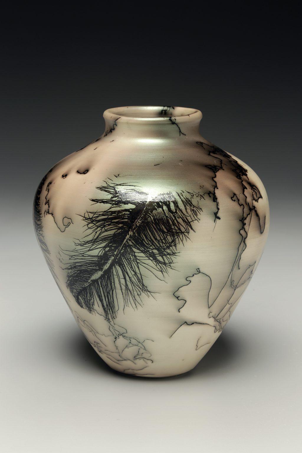 Judi Harwood, the Village Potters Clay Center, Asheville, NC, Raku, Horsehair