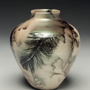 Judi Harwood, the Village Potters Clay Center, Asheville, NC, Raku, Horsehair
