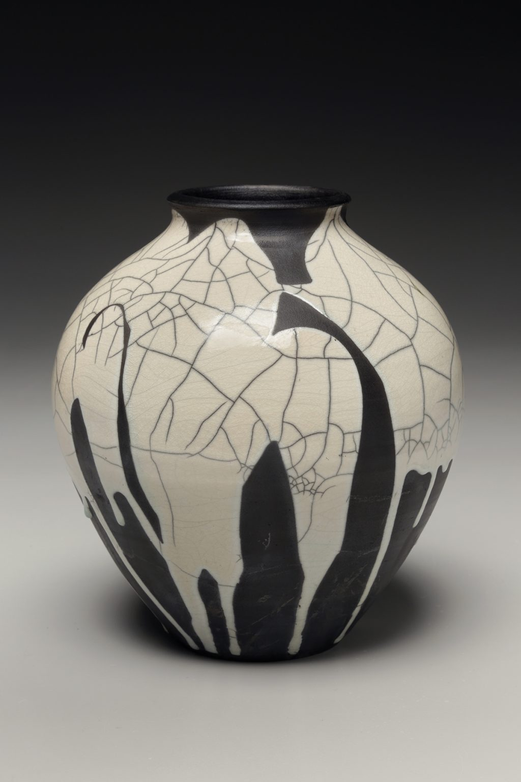 Judi Harwood, The Village Potters Clay Center, Asheville, NC, Raku, Crackle