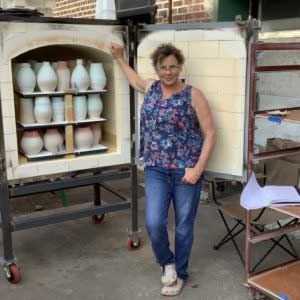 the village potters, the village potters clay center, asheville, nc, pottery, ceramics, mulit kiln opening, kiln opening