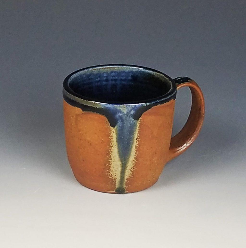 the village potters clay center, asheville, nc, wheel thrown pottery, wood ash kiln, kazegama, mugs, julia mann