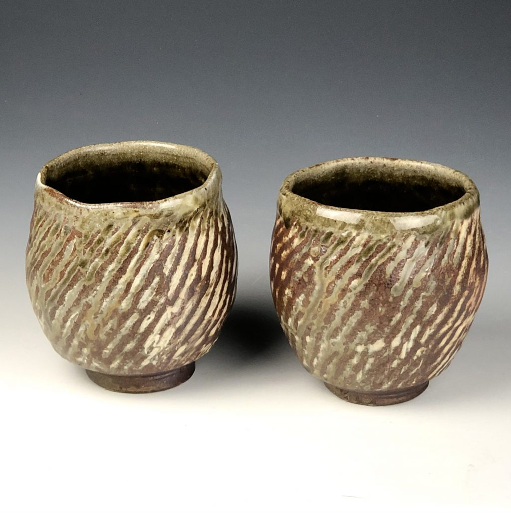 the village potters clay center, the village potters, asheville, nc, kazegama kiln, wood ash fired, lori theriault