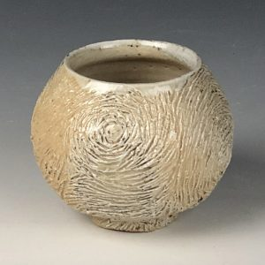 the village potters clay center, asheville, nc pottery, wheel thrown pottery, vincent series, carving on clay, lori theriault