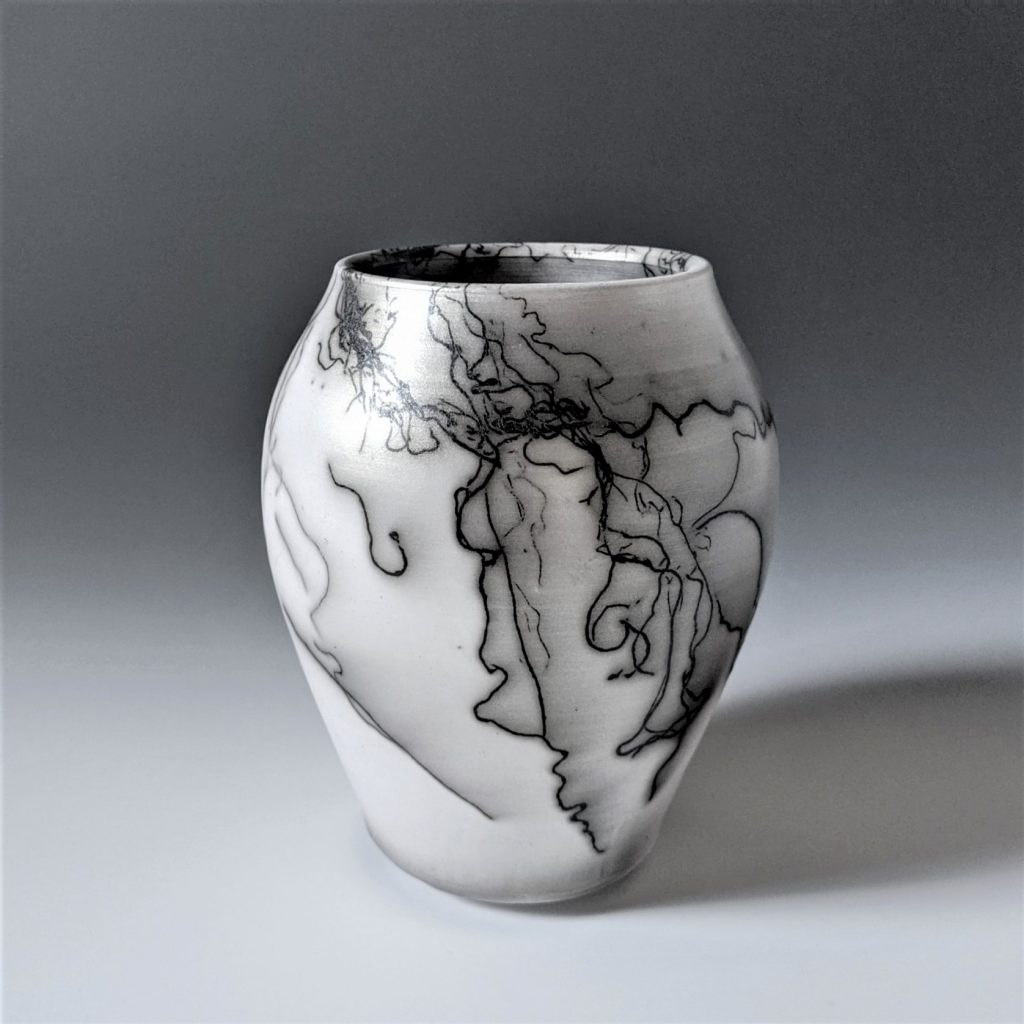 the village potters clay center, asheville nc, pottery, ceramics, raku, horse hair, judi harwood
