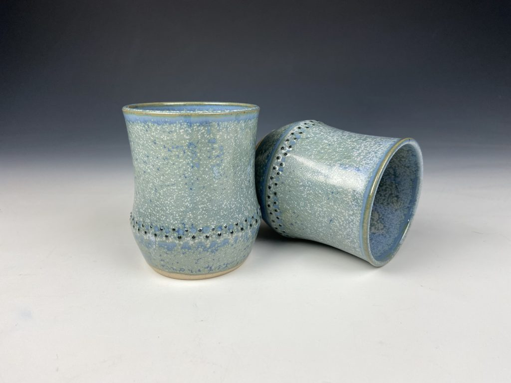 the village potters clay center, asheville, nc, pottery, ceramics, dot pots, katie meili messersmith, wheel thrown pottery